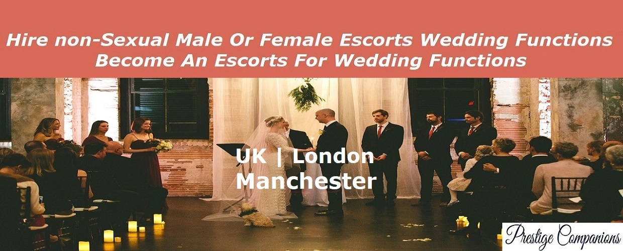Image of Hire non sexual male escorts for wedding functions UK